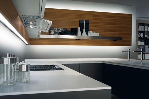 Top cucina in corian: caratteristiche di un piano di lavoro dallo stile moderno